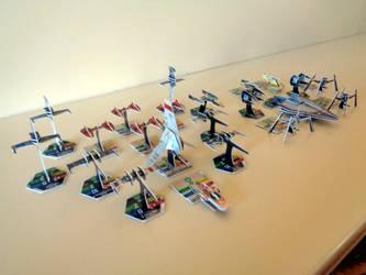 Star Wars Pocket Model TCG Fleet by ArtSpillGalaxy