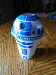 R2D2 Drink Cup by ArtSpillGalaxy