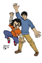 Jackie Chan and Jade by ArtSpillGalaxy