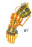 Steampunk Infinity Gauntlet by ArtSpillGalaxy