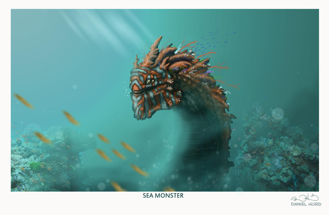 Coral reef sea monster by DanielHurd
