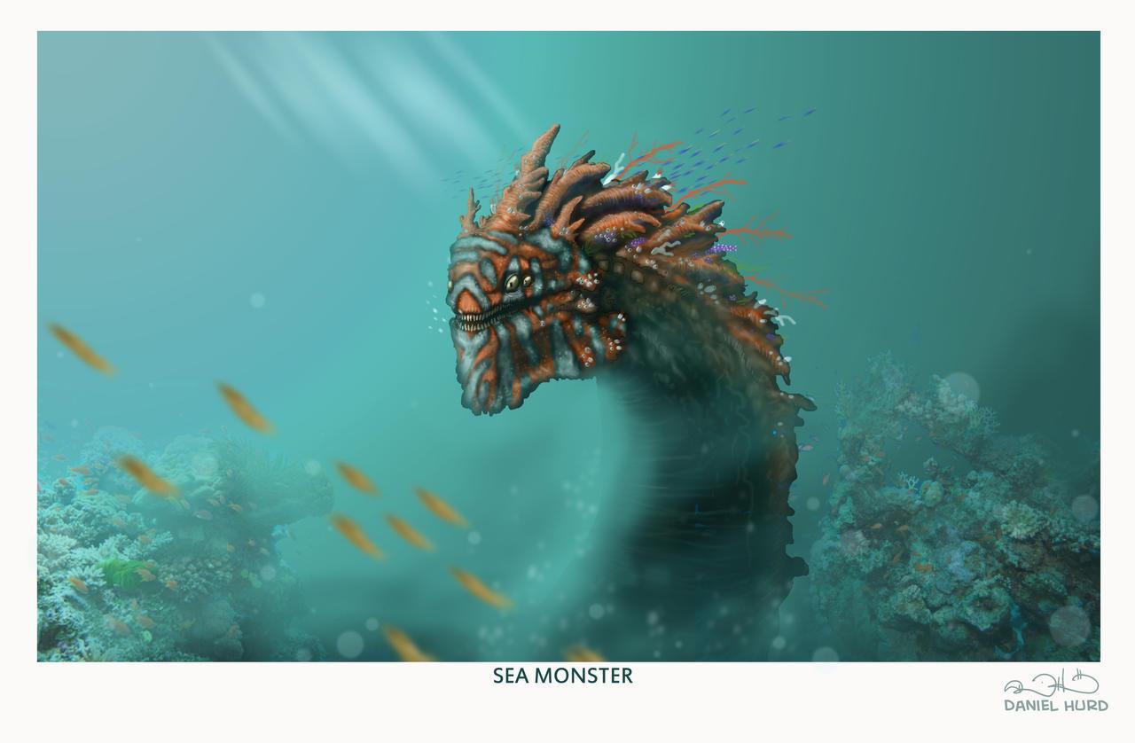 Coral reef sea monster by DanielHurd