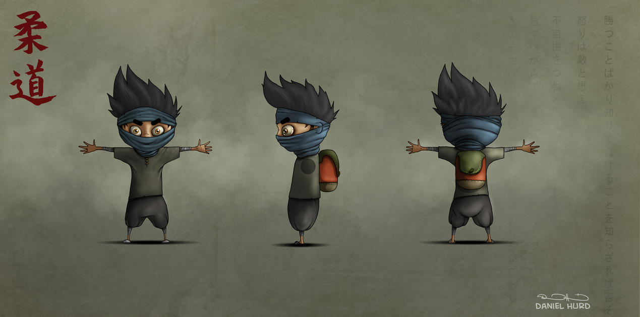 Ninja boy character design by DanielHurd