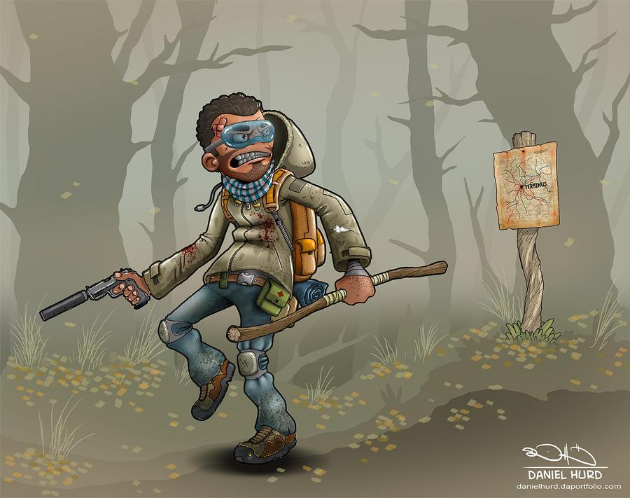 The Walking Dead Morgan by DanielHurd