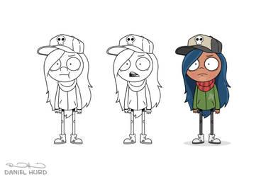 Character design teen girl