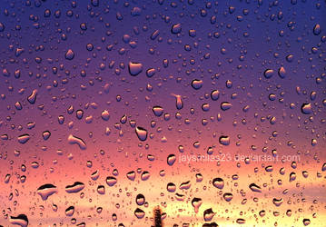 Colourful sky with water drops by JAYSMILES23
