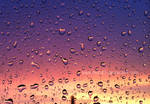 Colourful sky with water drops