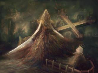 Lady Pyramid Head by 3abden