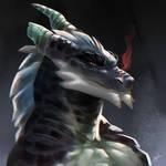 Dragon Profile by Krossan