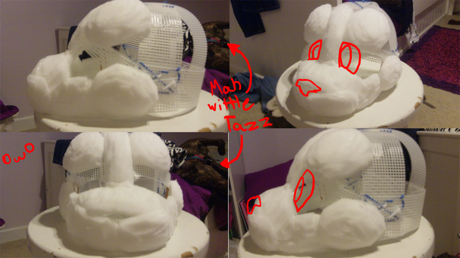 how to put fur on a fursuit head