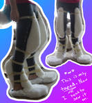 Ice's Fursuit Legs: Padding Test (Taped on)
