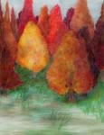 Autumn Lake by RebeccaTripp
