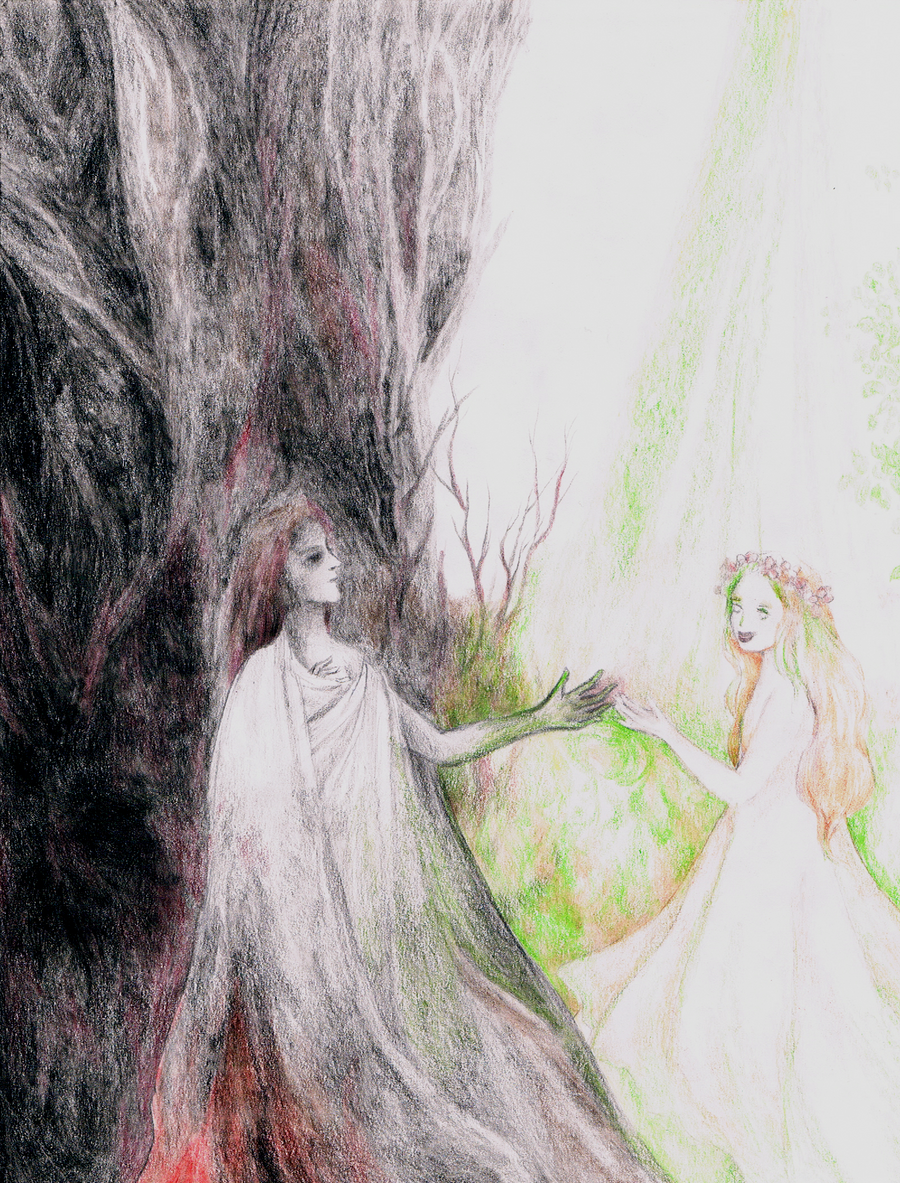 Hades and Persephone by RebeccaTripp on DeviantArt