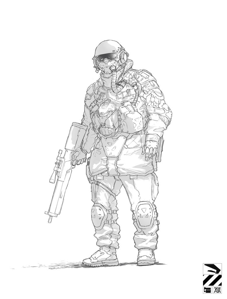 Doodle Soldier by duster132