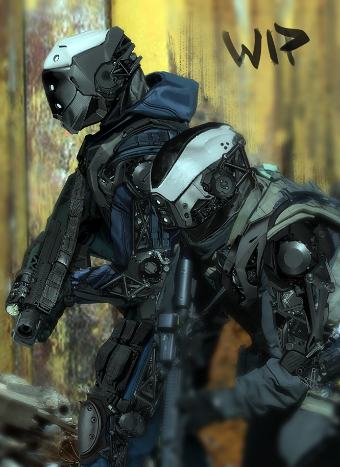 Babel 05 teaser 03 by duster132 on DeviantArt Futuristic Robot Soldier