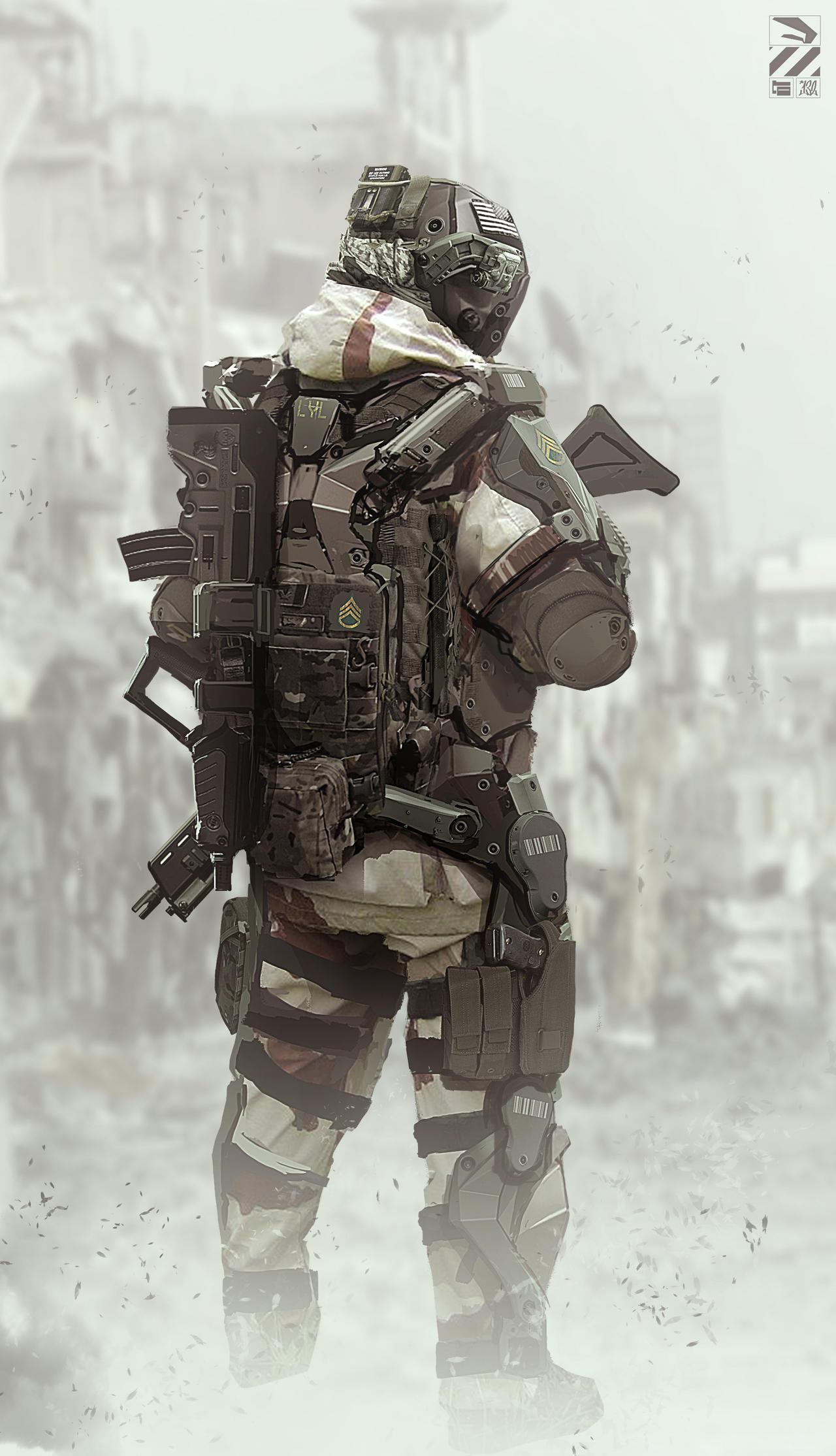Exosuit. by duster132 on DeviantArt Military Exosuit