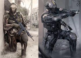 Infantry drones.