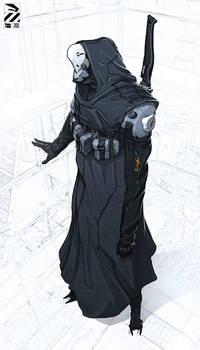 Hooded cyborg.