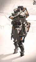Armored cyborg.
