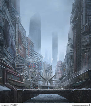 Ghost In The Shell concept art.
