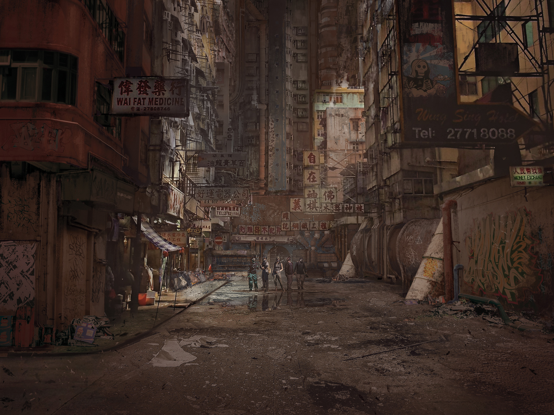 Patreon Photobash 04 HK Urbex Cover by duster132