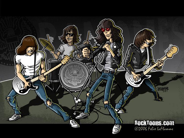 Ramones cartoon by GunsNMotley