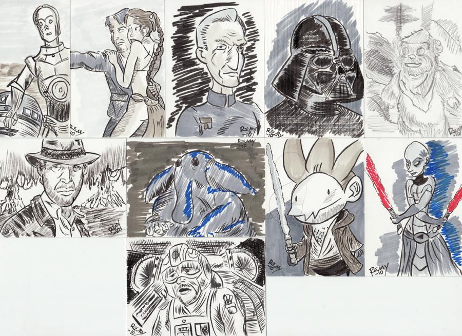 Sketch Cards by rem-dog