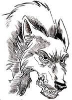 Wolf Ink test by rem-dog
