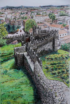 Defensive Wall, Bellinzona, Switzerland