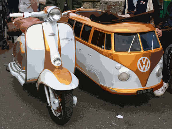 Scooter With Vw Camper Sidecar By Xrobstar21x On Deviantart