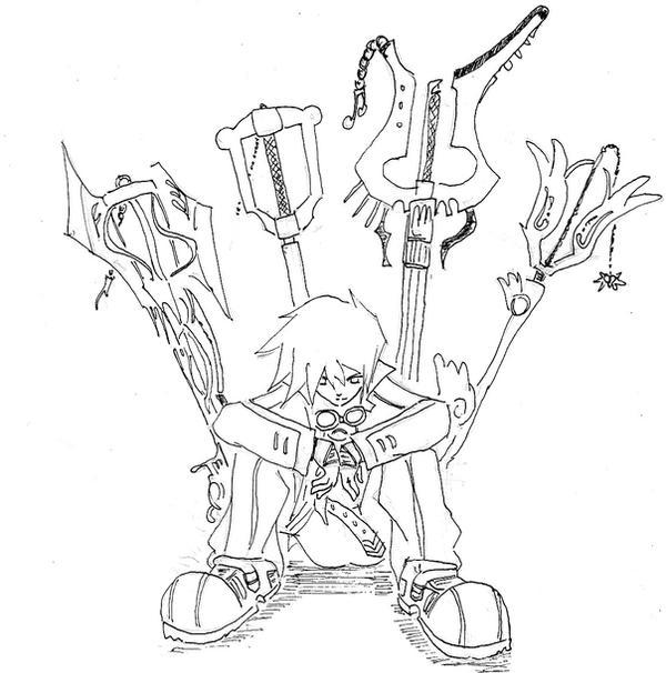 kingdom hearts oc by 16kieto - Kingdom Hearts Coloring Pages
