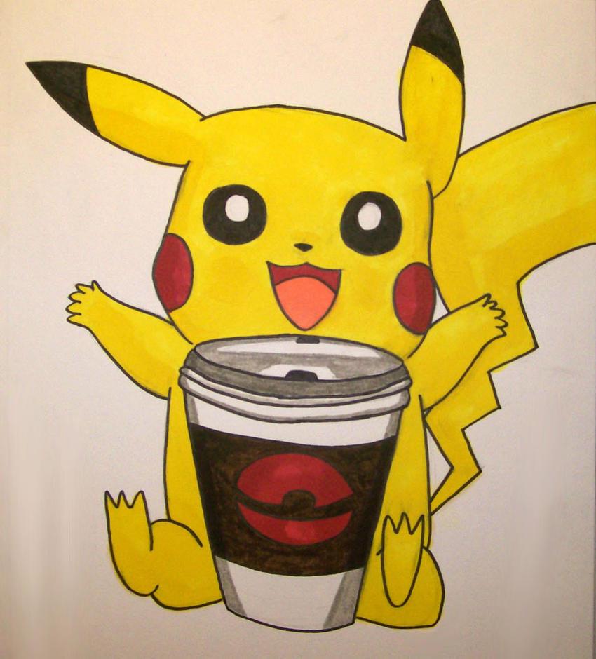 #201 date Even_pikachu_loves_coffee_by_redotaku98