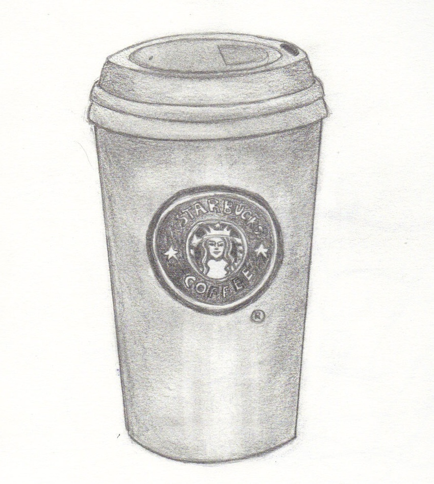 Coffee Mugs Drawing Starbucks Coffee Cup Drawing