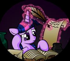 Studying Hard by OmegaSunBurst
