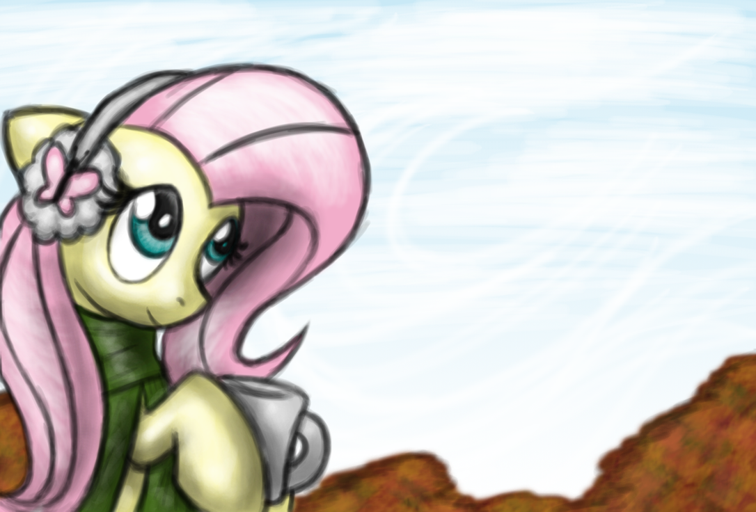 Fluttershy in fall by OmegaSunBurst