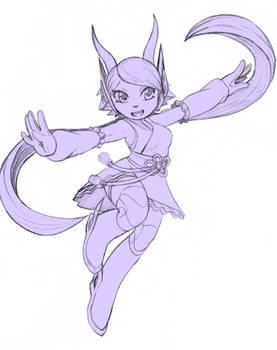 Lilac doodle