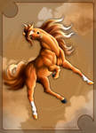 Horse Jumping Colored