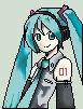 [pixel] hatsune miku by vokittyArt