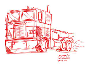 Optimus Prime (Frightliner COE Class 8 Truck)