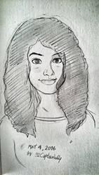 Amgi (Self portrait Sketch)