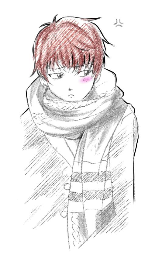 Suga and his scarf or The scarf and its Suga by Miyanko-chan