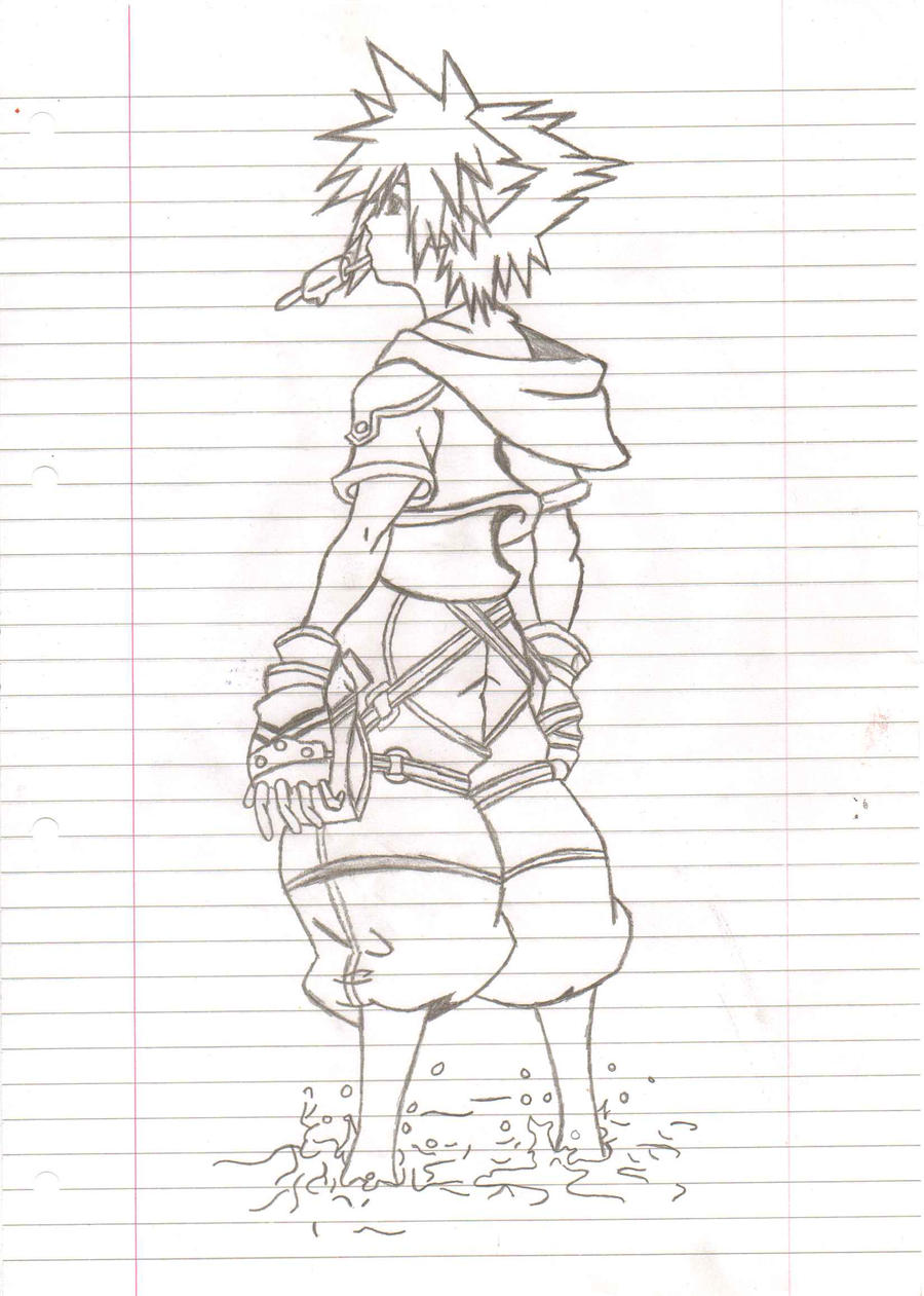 How To Draw Sora From Kingdom Hearts Step By Step