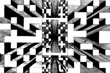 Optical Ink Drawing 1 by Super-Zombie