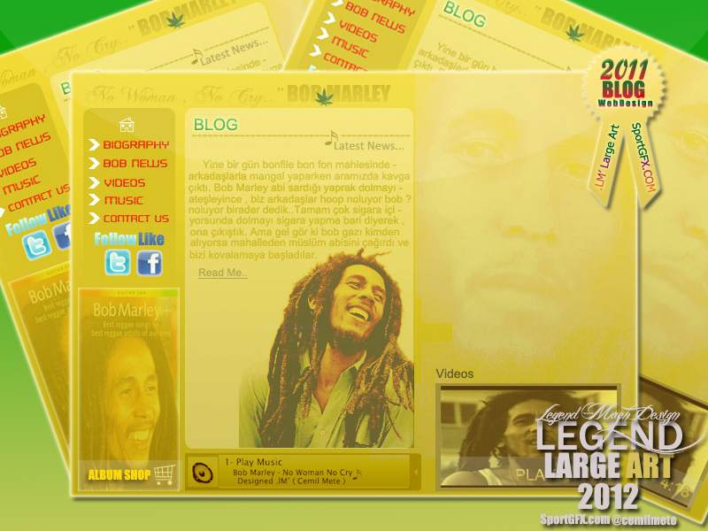 Bob Marley - Blog Template by cmete