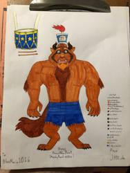 Disney Prince Adam Beast (Marching Band-Attire) by JHMirda
