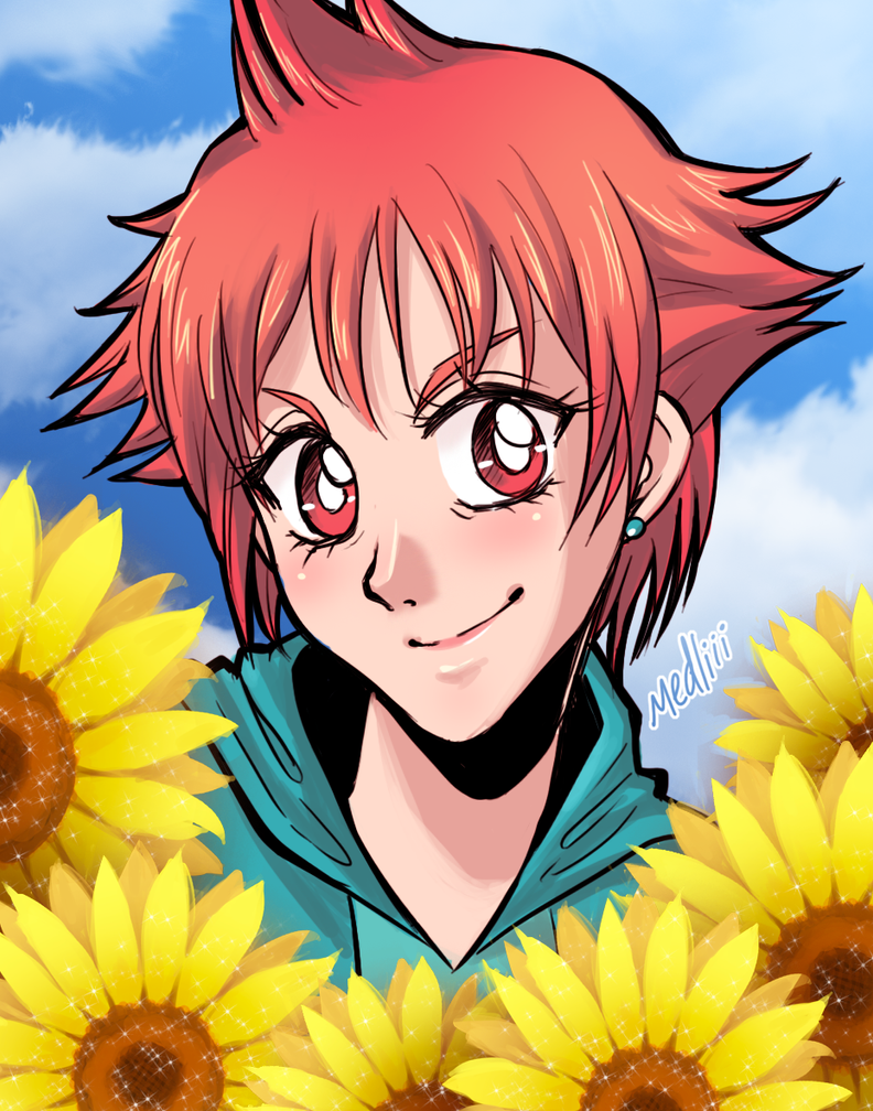 Like a Sunflower by medoriii