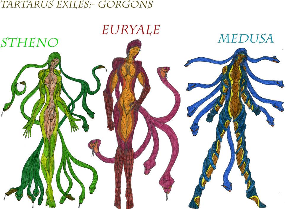 Euryale Greek Mythology Gorgons by MetalLearne...