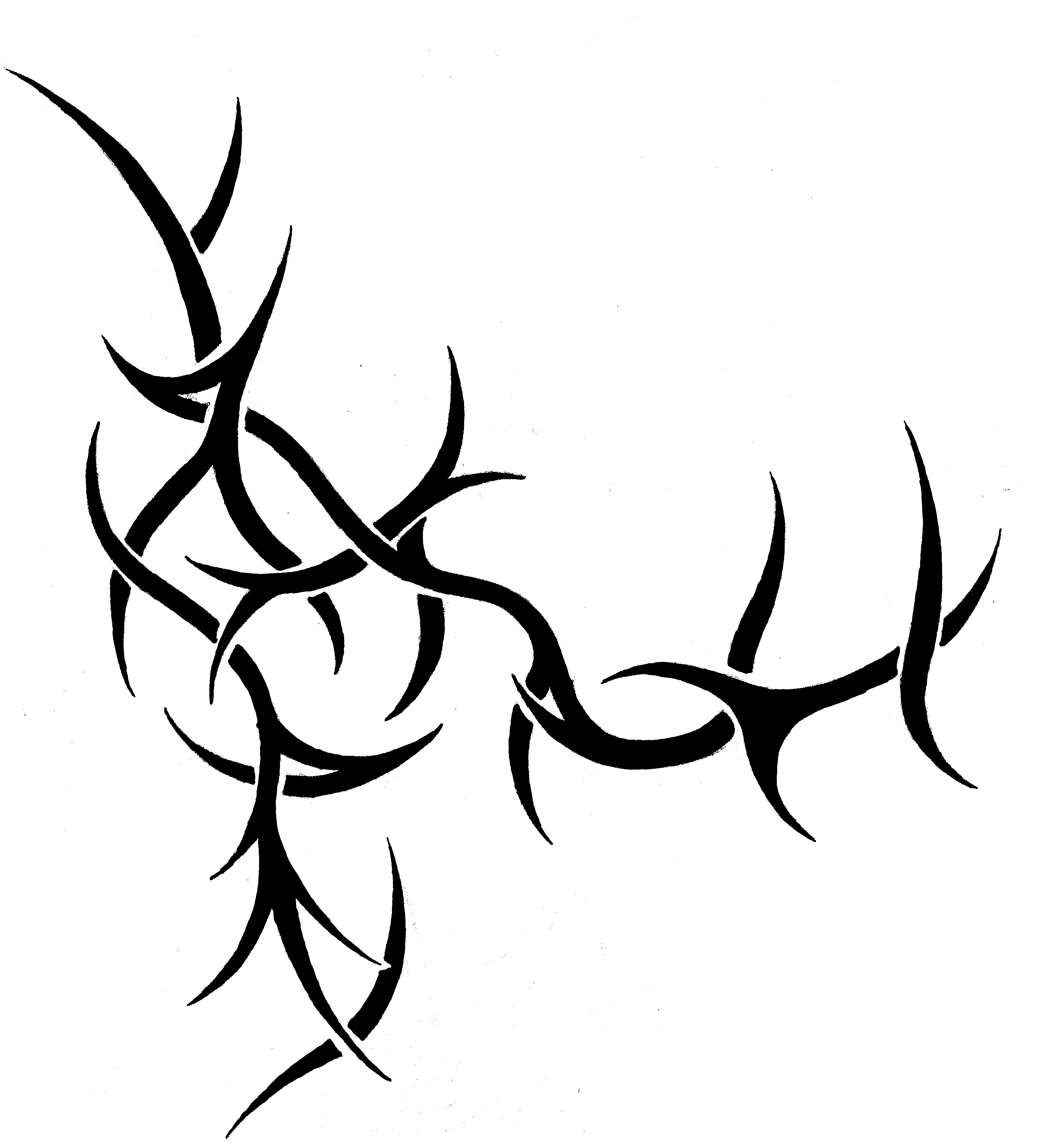 Tribal Crown of Thorns Tattoo