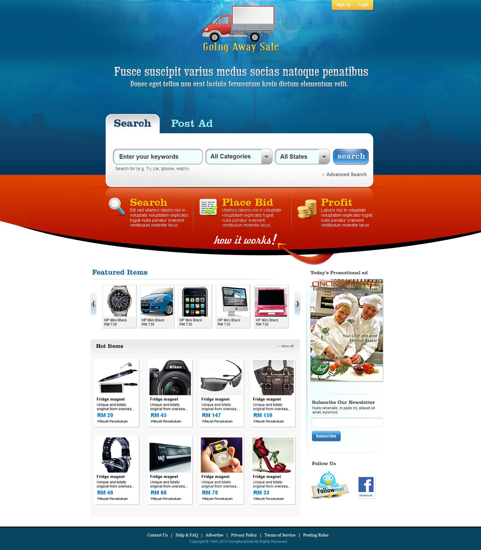 Web 2.0 IndexPage UI