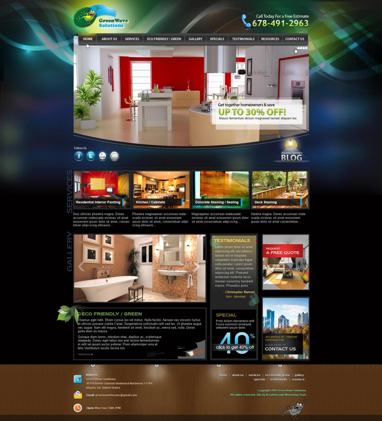 UI for Interior Decorator Comp